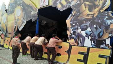 Unik, Pos Pelayanan Polisi Ini Bertemakan Bumblebee