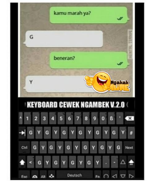 Keyboard cewek ngambek