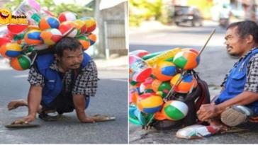 Kisah Inspiratif Penjual Balon yang Memiliki Keterbatasan Fisik