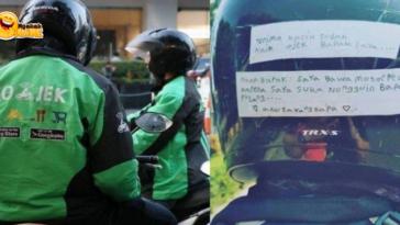 Viral Kelakuan Anak Driver Ojol Tempelkan Tulisan di Helm Ayahnya
