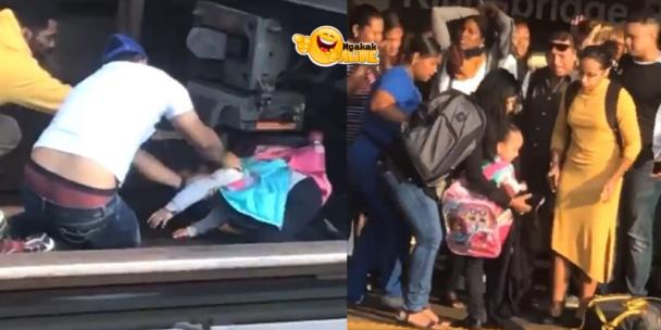Viral Video - Tragis, Ayah Ajak Anaknya Untuk Melompat Menabrak Kereta Lewat, Anak Berhasil Selamat