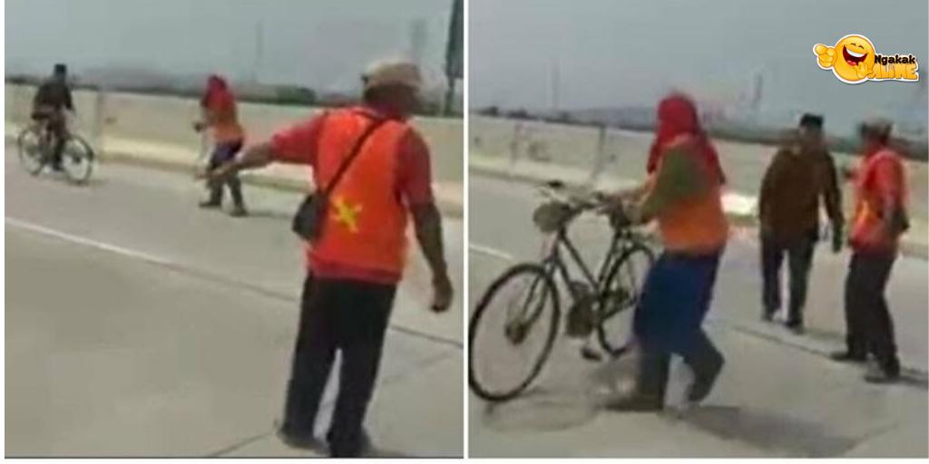 Heboh Video Kakek Bersepeda di Jalan Tol dengan Santuy Melawan Arus!