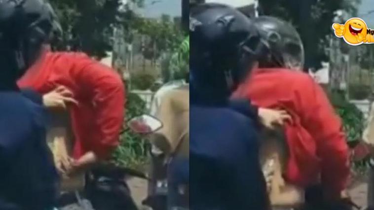 Viral Aksi Pemotor Kerokan di Lampu Merah, Netizen: Santuy Banget