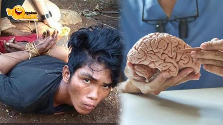 pria makan otak