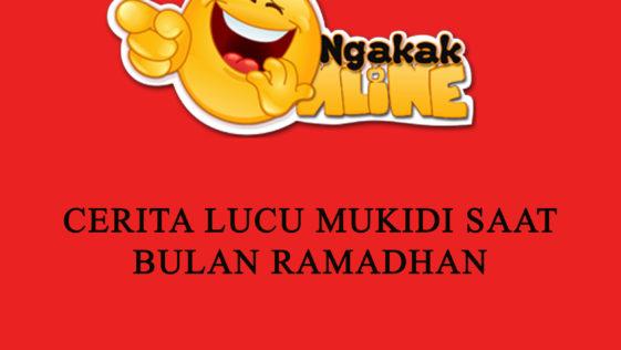 Cerita lucu Mukidi sempat viral pada 2016 silam. Cerita lucu Mukidi menyebar melalui jejaring sosial mulai dari Facebook, Twitter, dan WhatsApp.